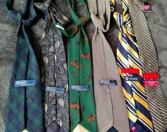 Lot of 6 Ralph Lauren Mens Neckties (4 Polo + 2 Chaps)