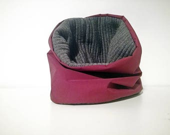Waterproof dog snood  - burgundy water resisant dog scarf