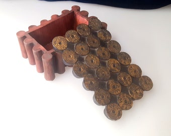 Vintage 12 Gauge Shell Winchester Resin Trinket Box