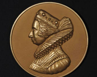 Queen Victoria Wall decor,resin relief,old medal