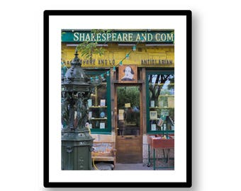 Photo of Shakespeare and Company Bookstore in Paris -- digital download / printable / instant download