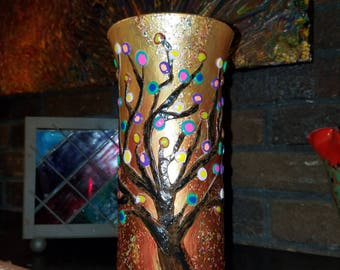 Whimsical Tree of Life Vase
