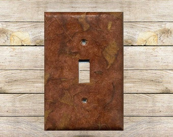 Brown Abstraction Decorative Switchplate