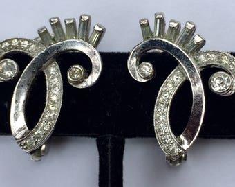 Pennino Art Deco PAT PEND Earrings