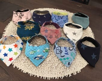 Scarves in different designs baby Spit Wipes