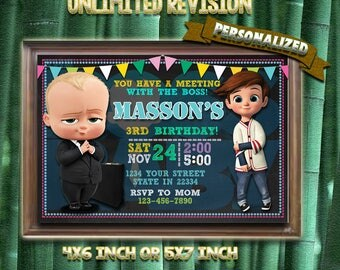 Baby Boss Invitation,Baby Boss Birthday Party,Baby Boss Birthday Invitation,Baby Boss,Birthday Invitation