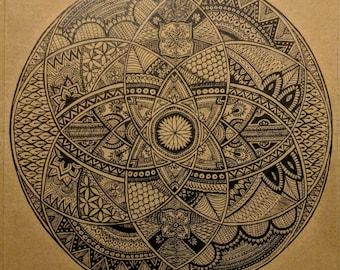 Circle interception - Hand drawn mandala.