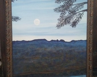 Sleeping Giant Landscape Painting 22x28 Canvas original by Bob Werle 2018.