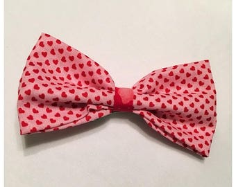 Valentine's Day Hairbow, Pink and Red Hearts Hairbow, Hairbow, Pink Hearts Hairbow, Red Heart Hairbow, Bows, Bowtie, SozBows