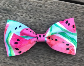 Blue Beephy Watermelon Bow Tie