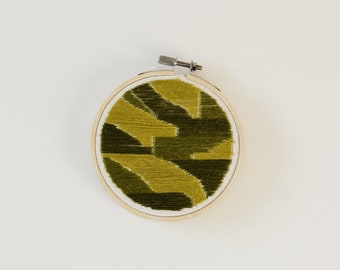 Green Block Embroidery