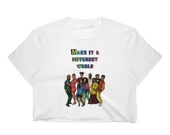 Make it a Different World Women's Crop Top