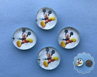 Mickey Mouse - Glass Gem Magnets