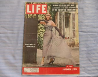 Life Magazine September 5, 1955  Dior's Smash-Hit Evening Dress