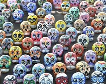 Сolored skulls Day of the Dead dia de los muertos fine art photo photography