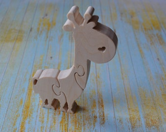 Wooden giraffe, wooden puzzle, wooden animal puzzle, puzzles,