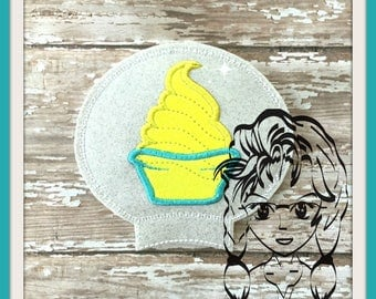 DOLE WHiP on Mouse Ear (Add On ~ 1 Pc) Mr Miss Mouse Ears Headband ~ In the Hoop ~ Downloadable DiGiTaL Machine Embroidery Design by Carrie