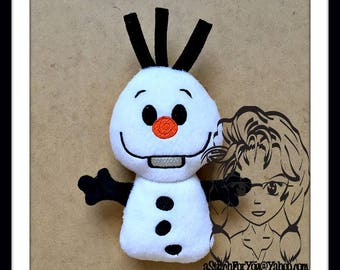 SNoWMAN Lil Bit Doll 3D Plush Softie Toy ~ In the Hoop ~ Downloadable DiGiTaL Machine Embroidery Design by Carrie