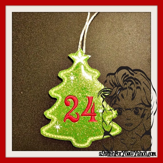 Ith advent christmas tree ornament number set in the for Number of ornaments for christmas tree