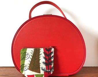 Zipper Pouch - Vintage 50s Fabric Heals Coppice by Mary White