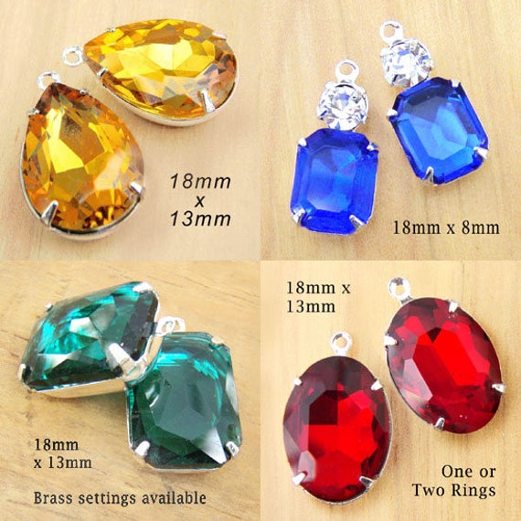 rhinestone earrings and pendant jewels in bright colors