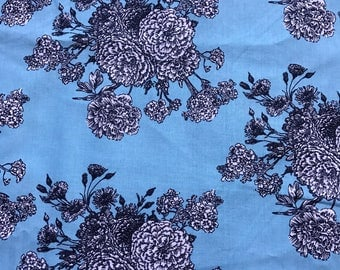"""NEW! """"Totally Totable"""" Weighted Lap Blanket - Adult or Child - Flowers on Blue- Choose your weight and minky color"""