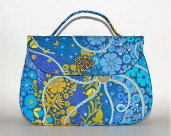 Mermaid Handbag - Aquatic Designs, Mermaid Purse, Ocean Abstract, Starfish Designs, Water Garden, Rockabilly Purse, Evening Bag, Boxy Bag