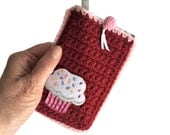 Crochet Holder with Pen and Pad Included, 3x5 Notebook Case, Birthday Party Favor, Kids Travel Games Accessories, Small Notepad Cover