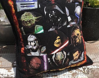 40% OFF- Star Wars Pillow-Throw Pillow--Upcycled Eco Friendly-Quilted