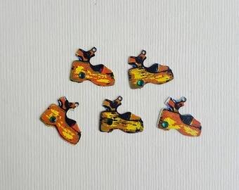 Vintage platform shoe charms