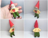 Gnome Bendy Doll - Woodland Gnome Doll- Waldorf Nature Table- Waldorf Felt Bendable Tomte - Small Play Figure, Nisse