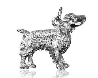 Springer Spaniel Dog Charm .925 Sterling Silver CMDGSP01 Bracelet Pendant