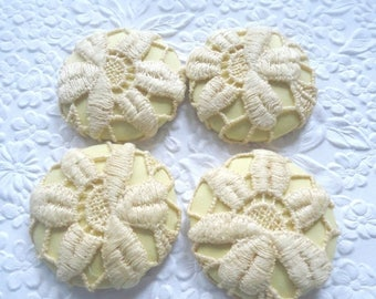 CLEARANCE - Yellow  buttons, lace buttons,1 7/8 inches buttons