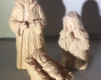 Large Resin Nativity set. Mary Joseph and Jesus.