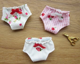 3 panties for Blythe, Lati Yellow, Licca, Ming, Meng and Mong  SET 2
