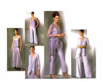 SALE Misses Jacket Top Pants Skirt Wardrobe Vogue 2779 Sewing Pattern Size 8 - 10 - 12 Bust 31 1/2 - 32 1/2 - 34 UNcut