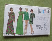 Vintage 60s Vogue 7836 Misses Cover Up Loungewear Maxi Dress Sewing Pattern size 14 B 36