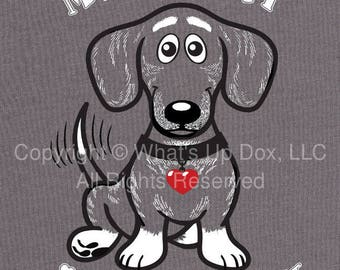 My Heart Is Frosty Dachshund T-Shirt