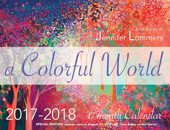 a Colorful World 2017 2018 Eclipse Calendar by Jenlo