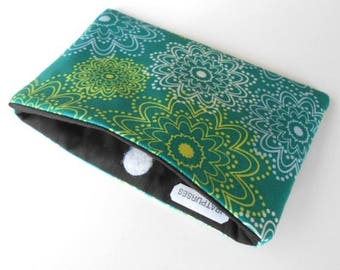 Catch All Clutch ECO Friendly Padded Pouch NEW Teal Sparkles