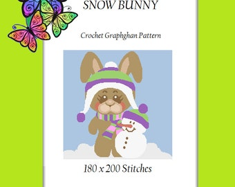 Snow Bunny - Crochet Graphghan Pattern