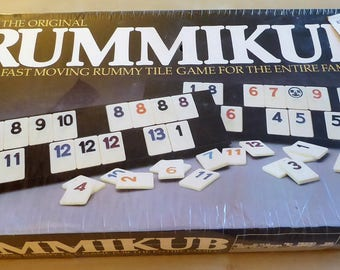 Vintage Rummikub SEALED in original box 1980 game / Father's Day gift for dad