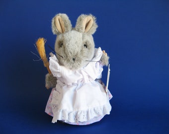 Vintage Hunca Munca Mouse Stuffed Animal Toy by Eden Toys Beatrix Potter 1980s Toys Kids Toys The Tale of Two Bad Mice Plush