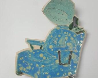 Bubble Dryer Chair Ceramic Dish