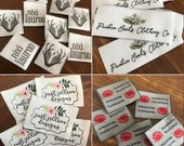 Custom Woven Labels - - 200 - Your own artwork - Up to 8 Colors - Sale, Normally 140.00 - Made in USA