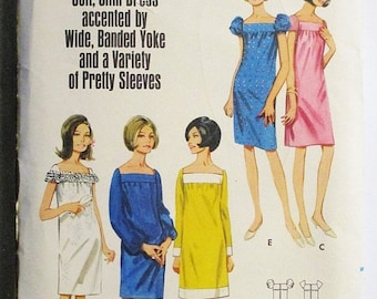 30% OFF SALE 1960s Vintage Sewing Pattern Butterick 4232 Misses One-Piece Dress Pattern Size 10 Bust 31