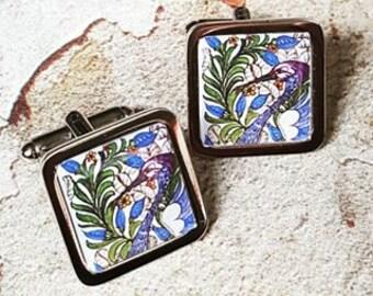 Art Nouveau Heron Cufflinks