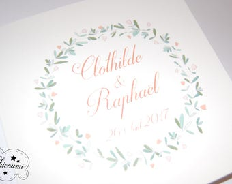 Clothilde & Raphael wedding invitation