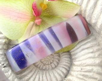 Medium Barrette, Pink Purple Barrette, Dichroic Jewelry, Dichroic Barrette, Fused Glass Jewelry, French Barrette, ccvalenzo, 062417ba106