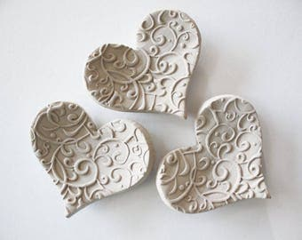 Set of 40 Heart Shaped Ring Dishes